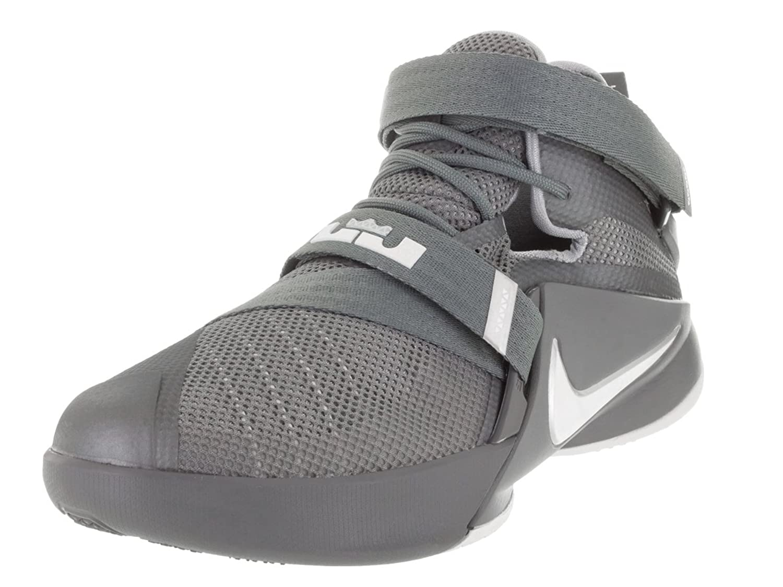 Amazon.com   Nike Kids Lebron Soldier IX (GS) Cool Grey/White/Wolf Grey  Basketball Shoe 7 Kids US   Basketball
