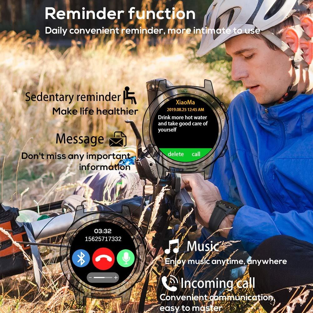 CETLFM Män bergsklättring smart pekskärm klockor, vuxen sport cykling klockor, multifunktionella utomhus bärbara klockor, blå BLÅ