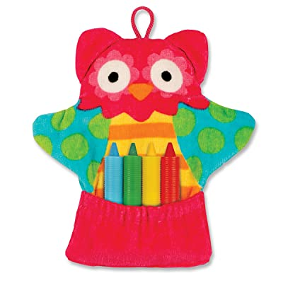 Stephen Joseph Bath Mitt and Crayons, Owl : Baby