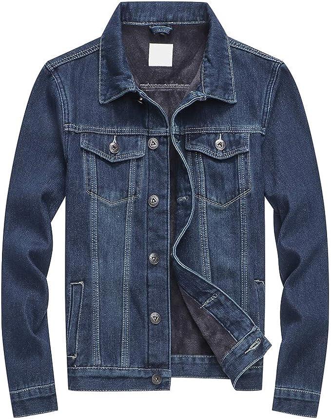 [Mirroryou(ミラーユー)] ボアデニムジャケット 裏起毛 コート ジャケット メンズ 秋冬 暖かい スリム S-5XL