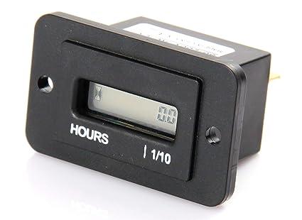 Jayron JR-HM010DC Medidor de horas LCD rectangular DC4.5V-90V para ...