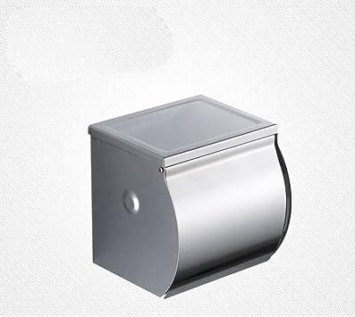 Portarrollos,Portarrollos de acero inoxidable Impermeable,Cerrado,Caja del tejido de acero inoxidable del Soporte de los tejidos-B: Amazon.es: Bricolaje y herramientas