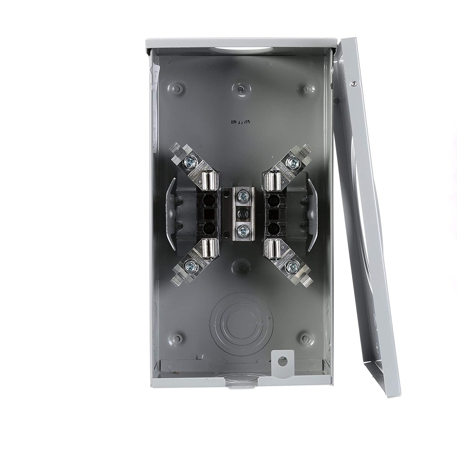 4 Jaw Siemens SUAT317-0PZA 200-Amp Horn Bypass Meter Socket Ringless Cover Overhead Feed,7//16 Barrell Lock