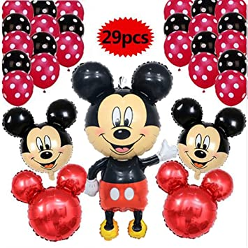 LIZHIQQ 29pcs / Lot 110CM Minnie Mickey Mouse Globos De La ...