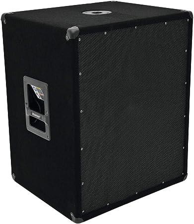 Omnitronic BX-1850 600W Negro - Subwoofer (600 W, 15-300 Hz, 1200 W, 99 dB, 8 Ω, 45,7 cm (18