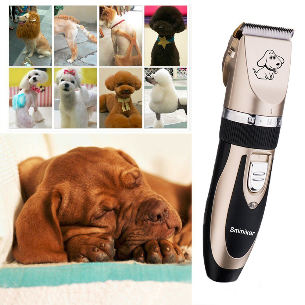 Sminiker Professional Rechargeable Cordless Dogs and Cats Grooming Clippers - Professional Pet Hair Clippers with Comb Guides for Dogs Cats and Other House Animals,Pet Grooming Kit by Sminiker Professional (Image #4)