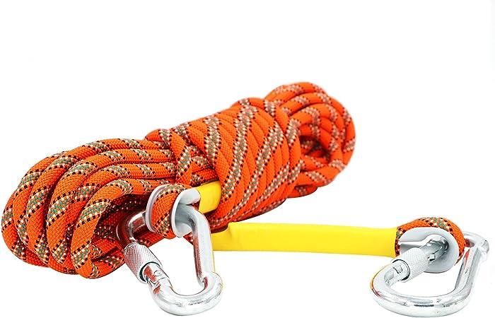 Cuerda Escalada dinámico con mosquetón, cuerda gruesa de ...