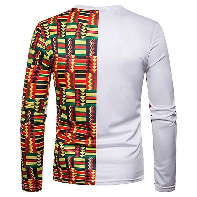 Blusa para Hombre de Manga Larga con Estampado de Jersey de Mangas largas, Estampado Indio e Indio, de Deplend.: Amazon.es: Ropa y accesorios