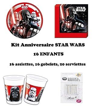 uni que Set de Cumpleaños 52 Piezas Star Wars Final Battle ...