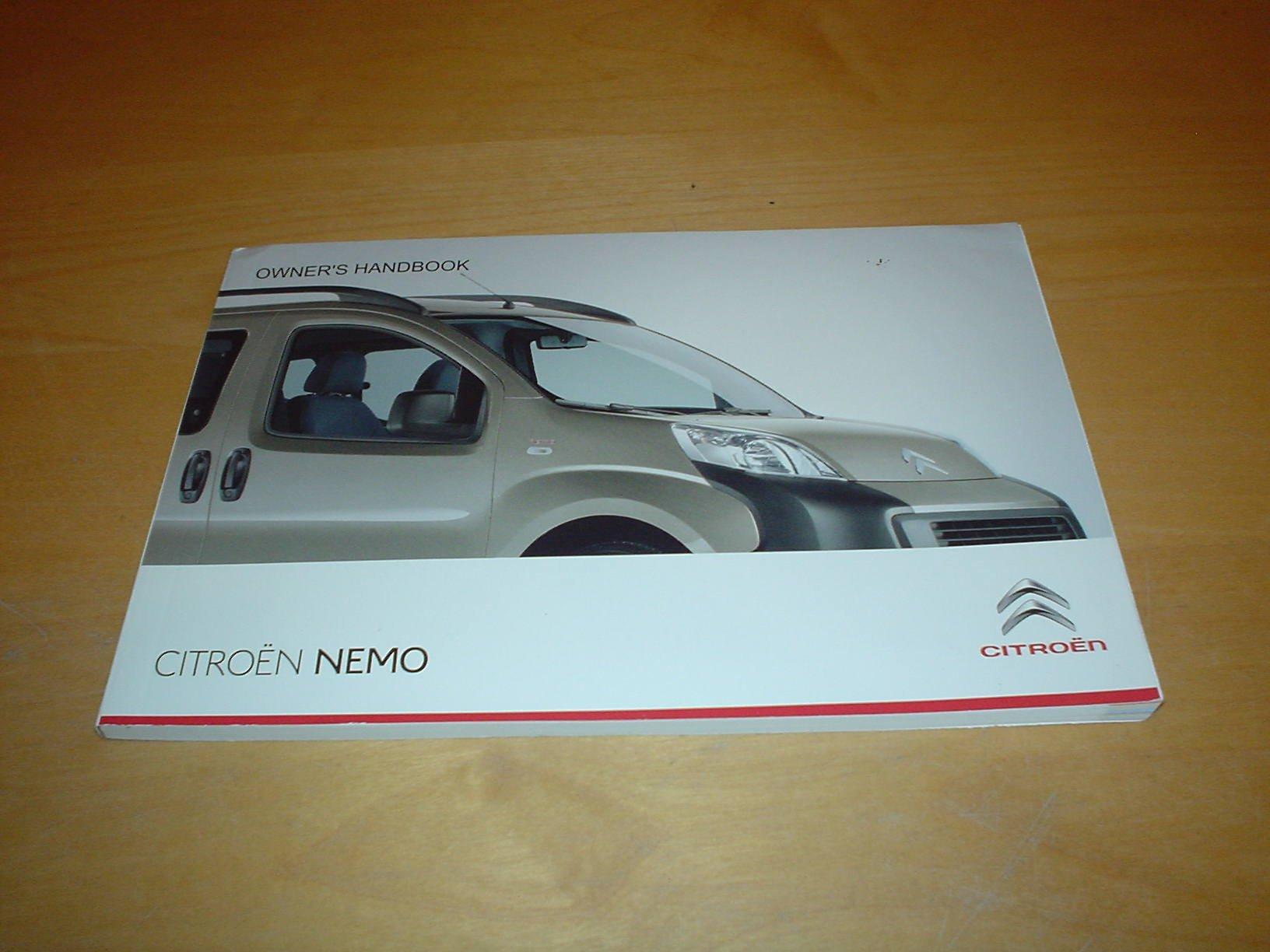 citroen nemo owners handbook light van combi 1 4 petrol engine rh amazon co uk Automobile Owners Manual Car Owners Manual