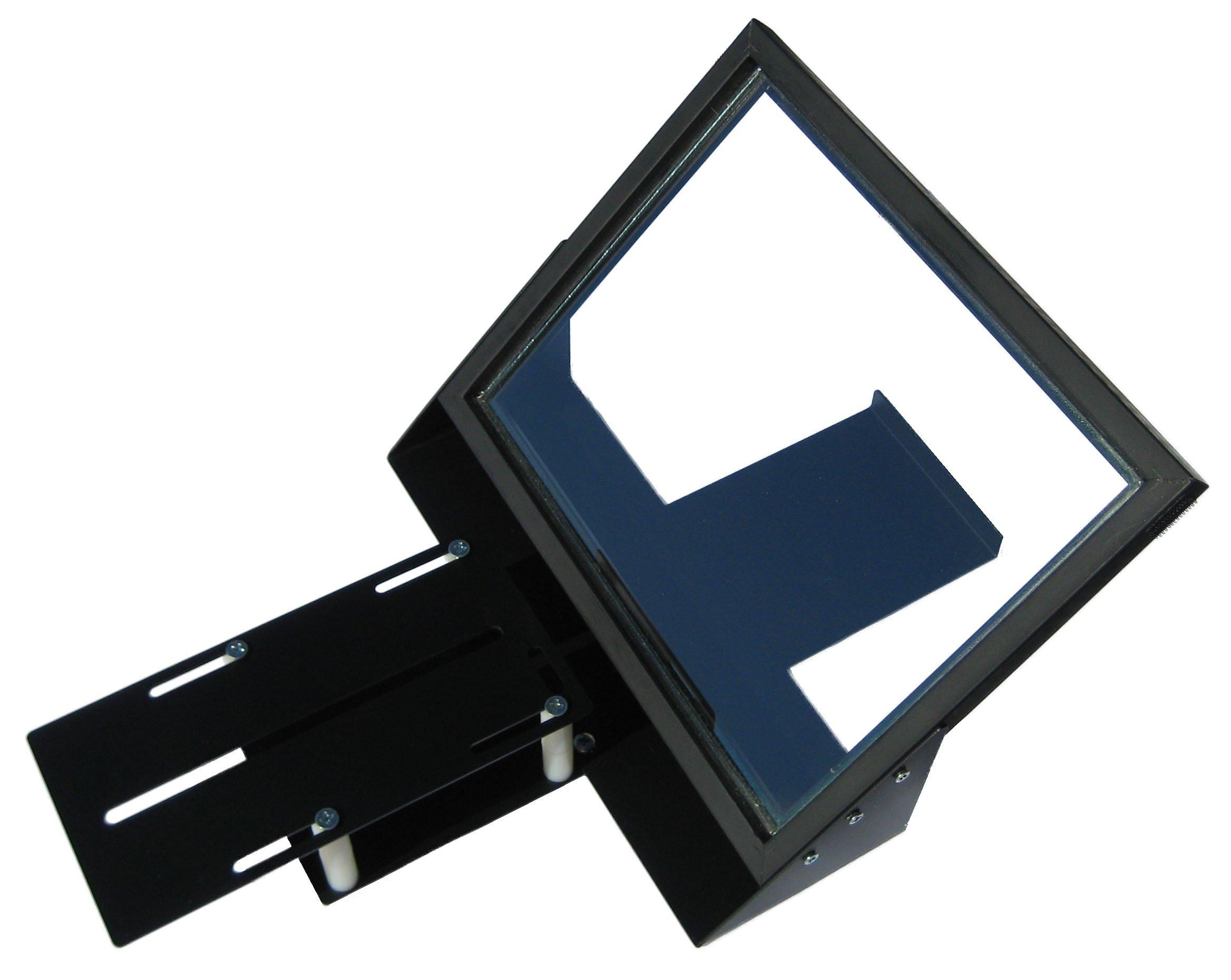 iPad iPad2 iPad3 iPad4 iPad Mini Teleprompter R810-10 with Beam Splitter Glass + Bracket to use iPhone Camera by InteractMedia