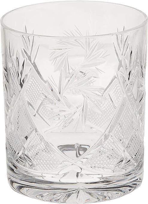 8-Oz Hand Made Vintage Russian Crystal Tea Beverage Set of 6 Neman Glass