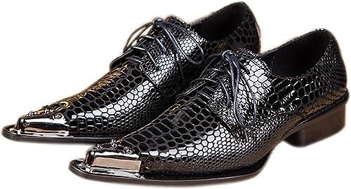 Dress Shoes Fashion Metal Tip Oxford