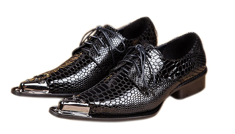 ac5cb846e23c SANTIMON Men's Western Pointed Toe Chelsea Leather Dress Shoes