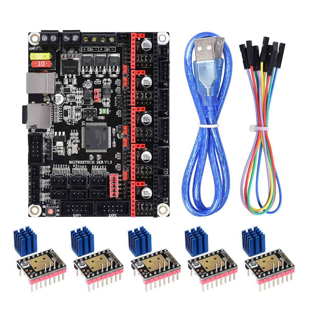 BIQU DIRECT SKR V1.3 32bit 3D Printer Control Board with CE Smoothieboard/&Marlin Open Source Compatible with/Ramps1.5//1.6 Support A4988//8825//TMC2208//TMC2100 Drivers