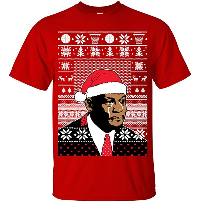 Adult Michael Jordan Crying Meme T Shirt Ugly Christmas Sweater X