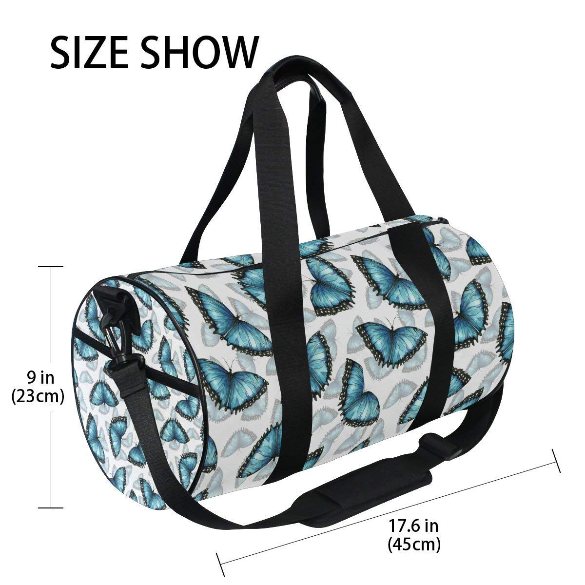 Gym Duffel Bag Watercolor Cactus Sports Lightweight Canvas Travel Luggage Bag