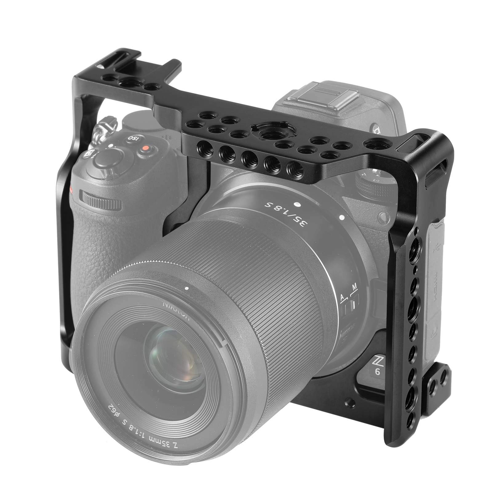 SMALLRIG Camera Cage for Nikon Z6/ Z7 Camera with Built-in NATO Rail and Cold Shoe 2243 by SMALLRIG (Image #5)