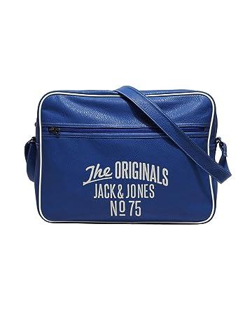 Amazon.com: Jack & Jones Ethan Messenger Bag (Blue)