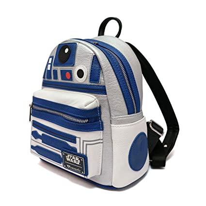 50c587747a9 Amazon.com  Loungefly x Star Wars R2D2 Applique Mini Backpack  Toys   Games