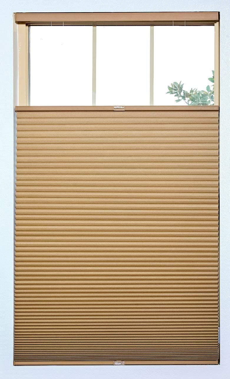 Chest Brown Any Size 23-72 Width with 48 Drop Height BlindsAvenue Cordless Top Down Bottom Up Cellular Honeycomb Shade Blackout 9//16 Single Cell Size: 23 W x 48 H