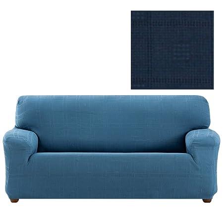 Funda de Sofá Elástica Modelo Jakson, Color Azul-4, Medida 1 Plaza – 70-110cm