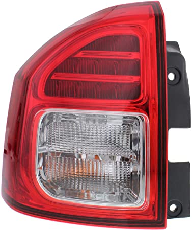 Evan-Fischer Tail Light Assembly Compatible with 2014-2017 Jeep Compass Driver Side