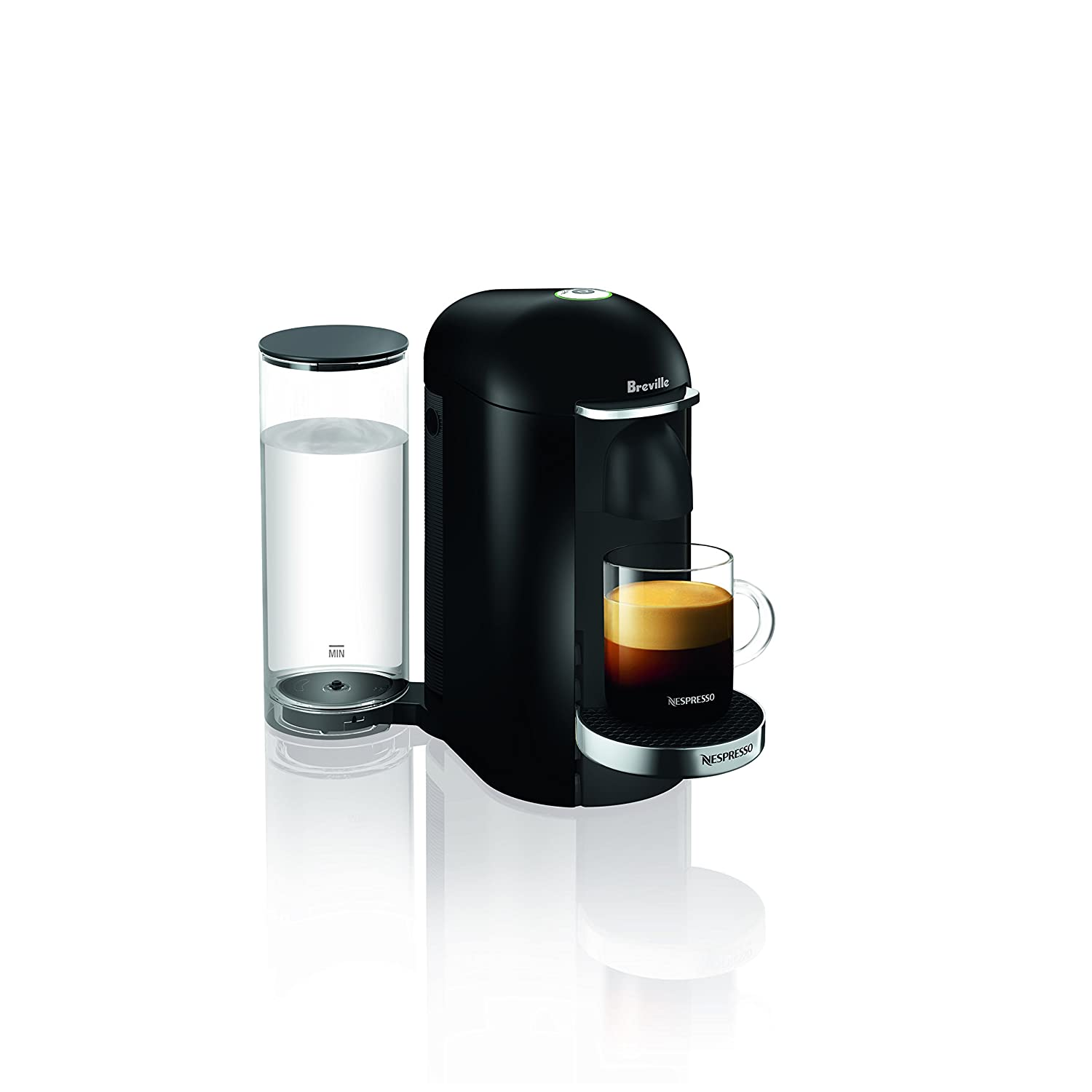 Nespresso VertuoPlus Deluxe Coffee and Espresso Machine by Breville, Black