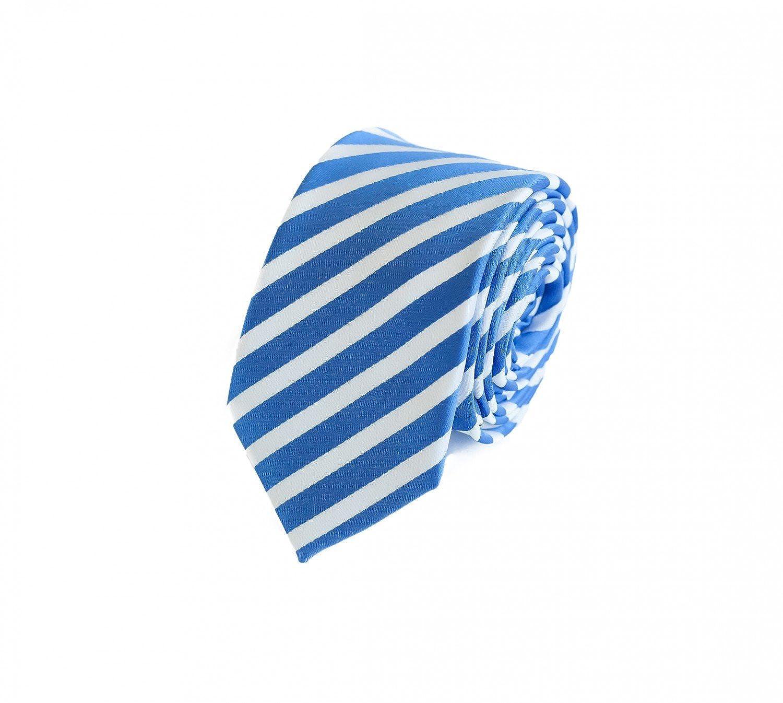 Corbata de Fabio Farini en rayas azules y blancas: Amazon.es: Ropa ...