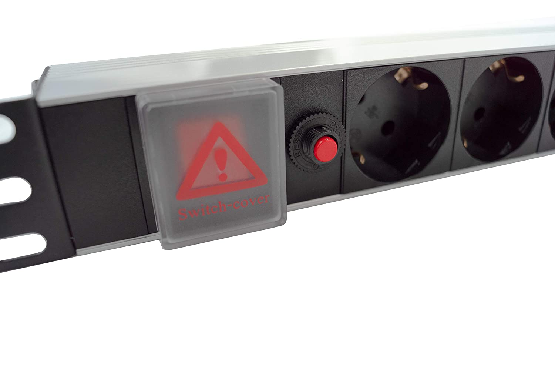 iONZ Regleta 19, 8 enchufes, 250 V, m/áx. 3500 W, 8 enchufes, Cable de 2 m