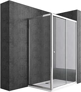 doporro: Cabina de ducha de esquina Rav12 70x130x190 Mampara de vidrio de seguridad transparente puerta corredera derecha o izquierda | Revestimiento incluido: Amazon.es: Bricolaje y herramientas