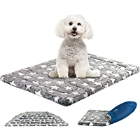 "KROSER 24""/30""/36""/42""/48"" Dog Bed Reversible Mat (Warm & Cool) Stylish Pet Mat Pad High Density Foam Machine Washable…"