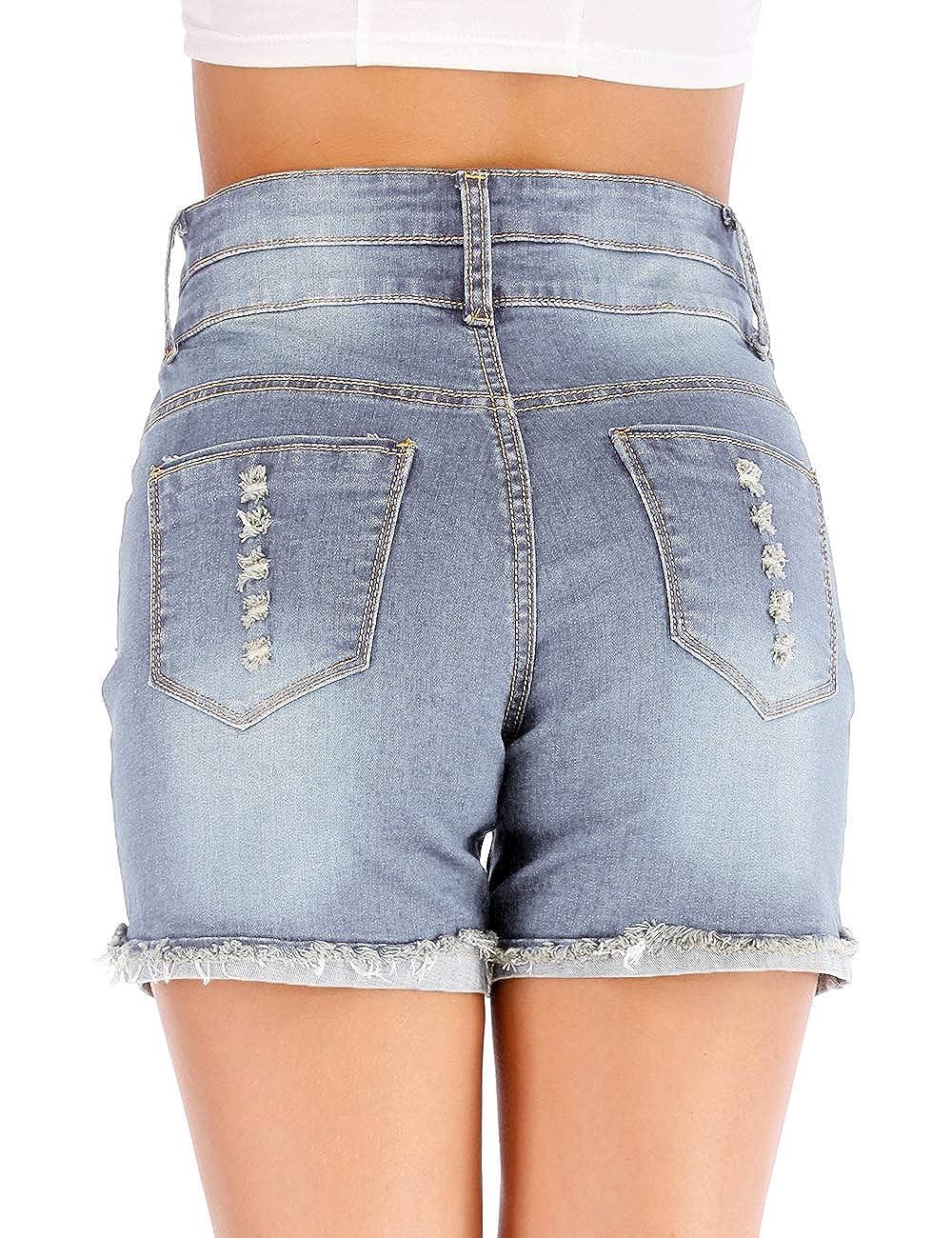 Amazon.com: Haola pantalones cortos de mezclilla con ...