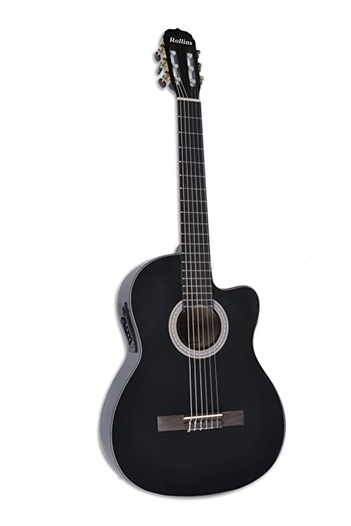 Rollins rol-935bm eléctrico acústica guitarra cuerdas de nailon