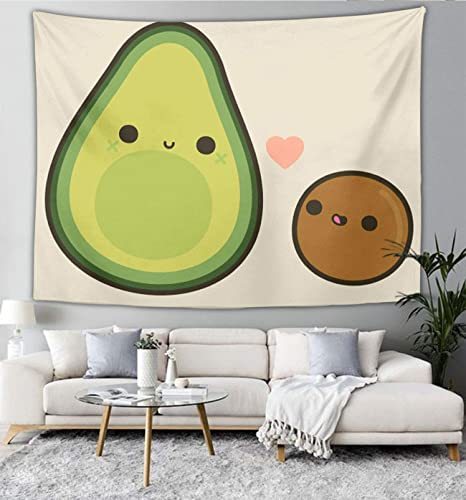 Amazon Com Niyoung Tapestry Wall Hanging Cute Avocado Wall Tapestry With Art Nature Home Decorations For Living Room Bedroom Dorm Decor In 40x60 Inches Home Kitchen