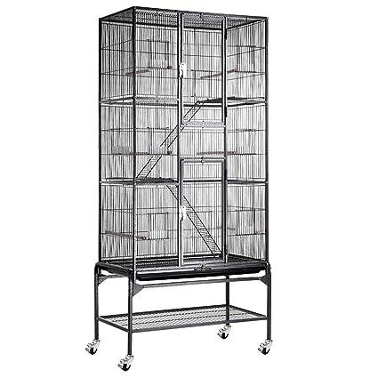 Amazon.com: megabrand 32 x 18 x 69 en 3-story Cockatiel ...