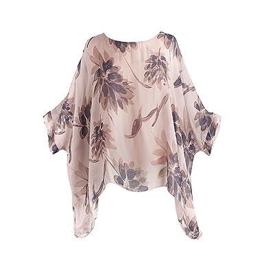 5d2ca4c7278a0 CATALOG CLASSICS Women s Sheer Leaf Print Tunic Top - 3 4 Drop Shoulder  Sleeves -