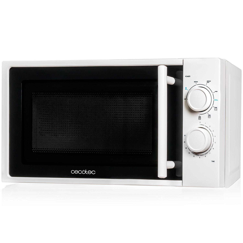 Microondas con grill, input 1200 W, output 700W, grill de 900W, 20 l, 9 niveles, Cecotec Grill 01362