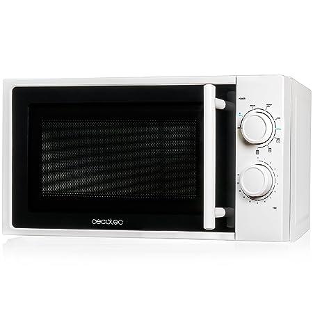 Cecotec Microondas White con Grill. Capacidad de 20l, 700 W de Potencia, grill de 900W, 9 Niveles Funcionamiento, Temporizador 30 min, Modo ...