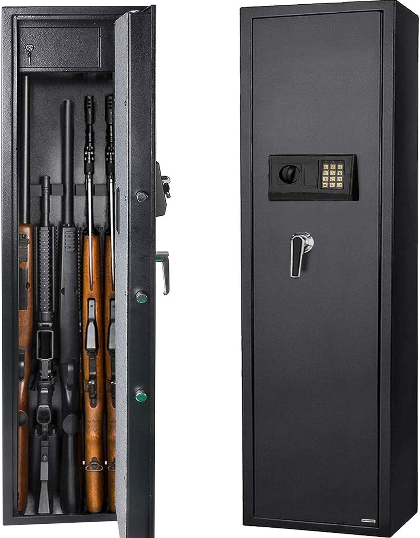 Gearmart Fast Access Gun Safe Rifle Safe Larger and Durable for 5-Gun Shotgun Cabinet
