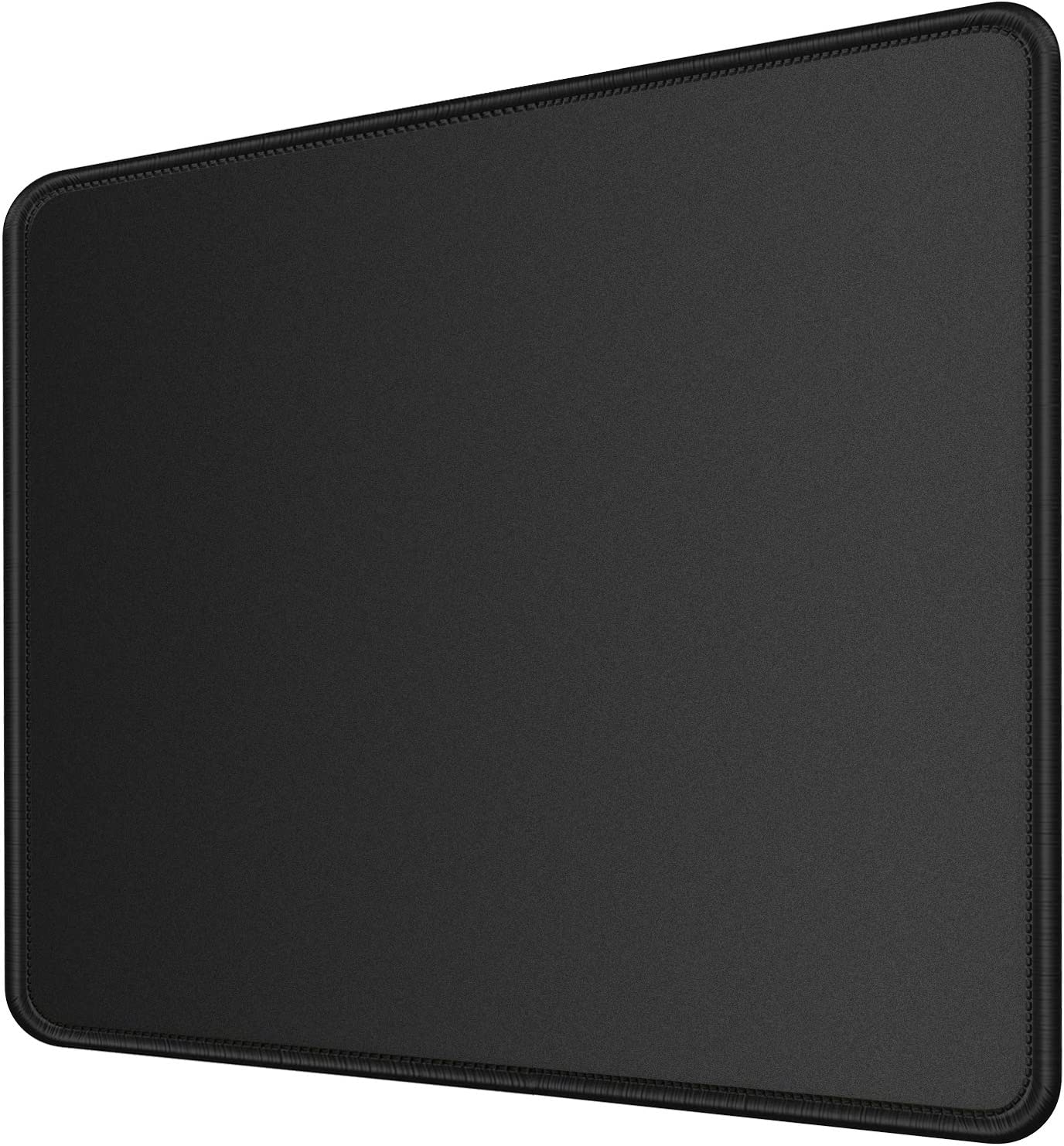 MROCO Computer Mouse Pad with Non-Slip Rubber Base, Premium-Textured and Waterproof Mousepad with Stitched Edges, Mouse Pads for Computers, Laptop, Gaming, Office & Home, 11 x 8.5 inches, 3mm, Black