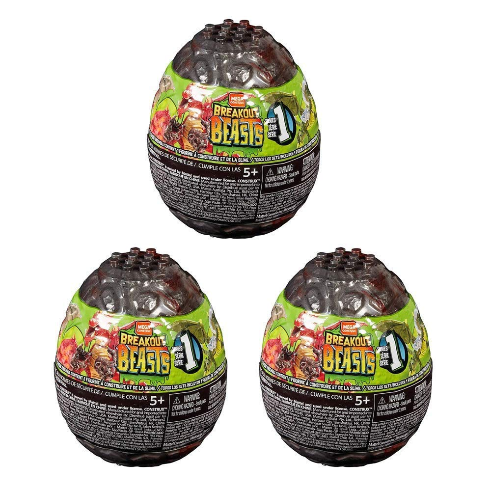 Breakout Beasts Slime Eggs Series 1 (Pack of Three Surprise Eggs)