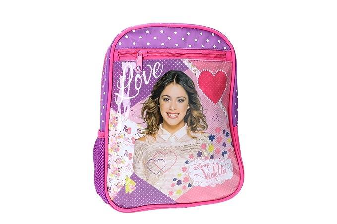 Mochila niña DISNEY VIOLETTA bolsa de ocio escolar rosa VZ336: Amazon.es: Ropa y accesorios