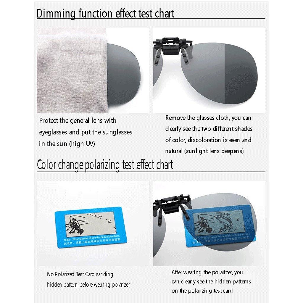 HUACANG Gafas de Sol con Clip, Gafas de Sol polarizadas con Solapa UV400 para Hombre/Mujer - Práctico y Seguro Ajuste Sobre anteojos recetados Ideal para ...