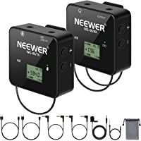 Neewer 57-Channel UHF Wireless Lavalier Microphone System with Receiver, Transmitter and Lapel Microphone for Cameras…