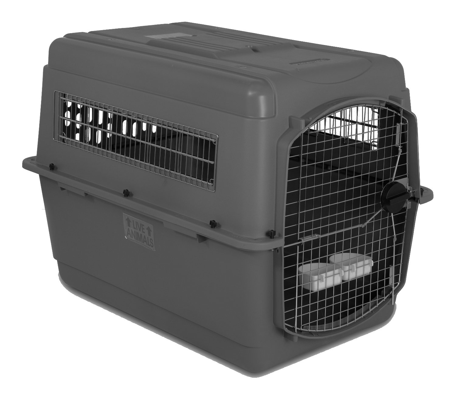 amazoncom petmate sky kennel for pets from 70 to 90pound light gray pet carrier extra large pet supplies