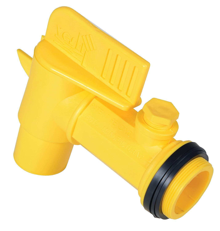 Vestil JDFT Plastic Manual Handle Jumbo Drum Faucet, Fits 2\