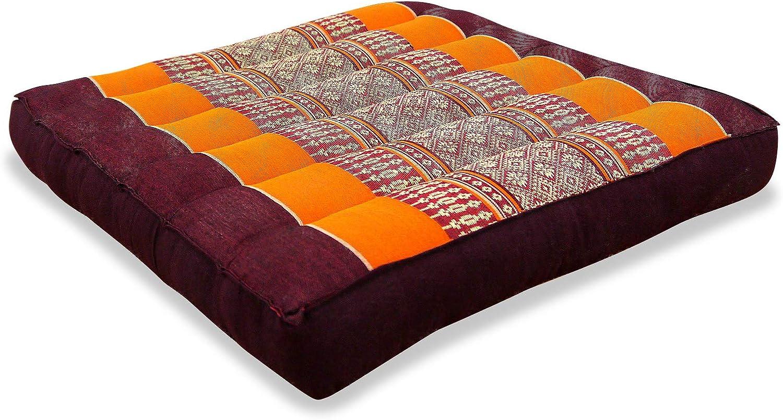 orange asiatisches Stuhlkissen Bodensitzkissen Gartenstuhlauflage livasia Kapok Sitzkissen 35x35cm
