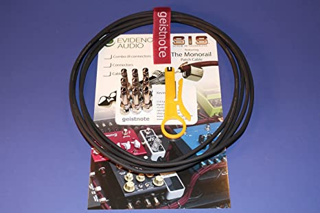 20 SIS plugs//20 feet of Black Monorail Geistnotes Evidence Audio The Monorail Pedalboard Kit SIS Black Cable Solderless