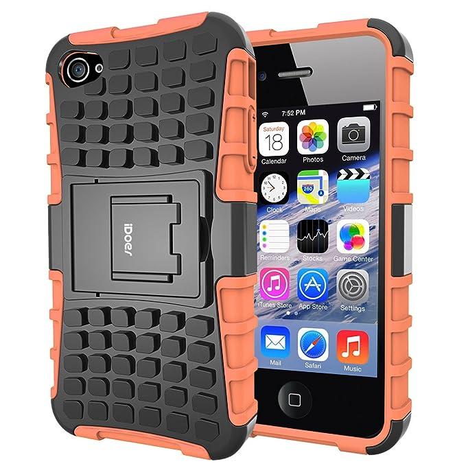 1 opinioni per Custodia per iPhone 4,Shock-Absorption Bumper,Protettiva Stand Case,Copertura